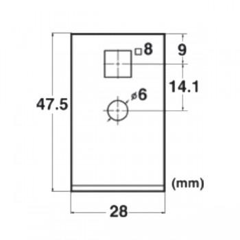 Forma e dimensioni della lama rettangolare che rimuove (1 pz in dotazione)