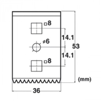 Forma e dimensioni della lama che raschia (1 pz in dotazione)