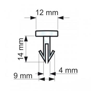 Forme e dimensioni delle clips a freccia (RIVTS127271)