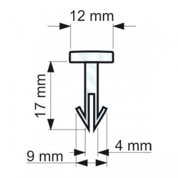 Forme e dimensioni delle clips a freccia (RIVTS1210272)