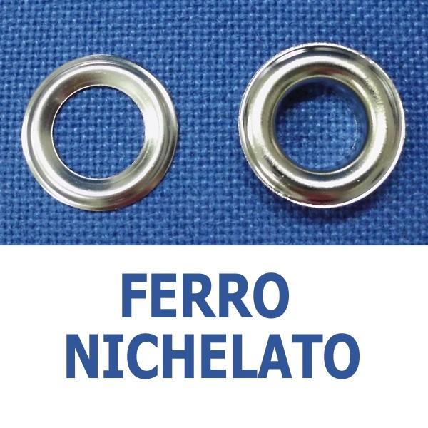 Occhielli in ferro nichelato (conf. 1000 pz)