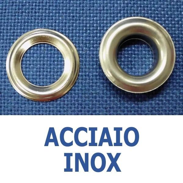 Occhielli in acciaio inox (conf. 1000  o 100 pz)