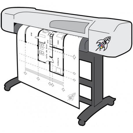 Carta bianca 90 g disegni tecnici, rotolo singolo
