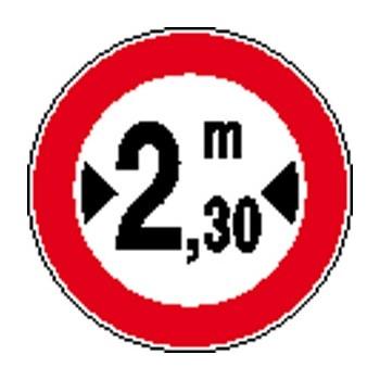 Lato frontale dei cartelli rotondi 40/60