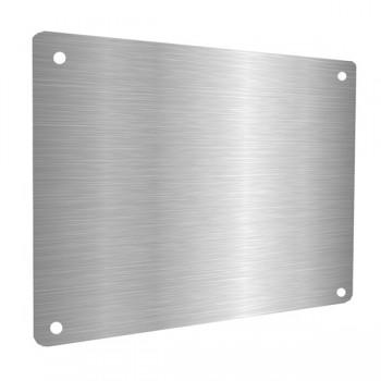 Targa pronte in alluminio composito spazzolato argento