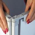 Il profilo che blocca il PVC può essere allentato per favorire una più accurata applicazione del vinile adesivo