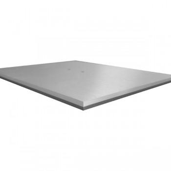 L'elegante base in alluminio satinato
