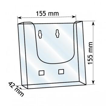 Forma e dimensioni del portadepliant in formato A5