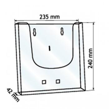 Forma e dimensioni del portadepliant in formato A4