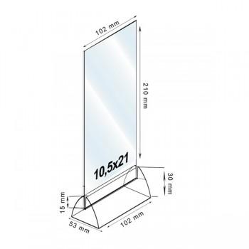 Forma e dimensioni del formato 10,5 x 21 cm