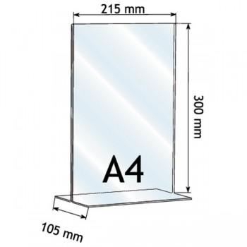 Forma e dimensioni del portadepliant in A5 verticale