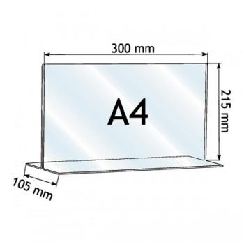 Forma e dimensioni del portadepliant in A4 verticale