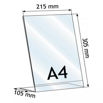 Forma e dimensioni del formato A4 verticale