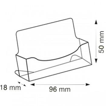 Forma e dimensioni del porta biglietti da visita orizzontale