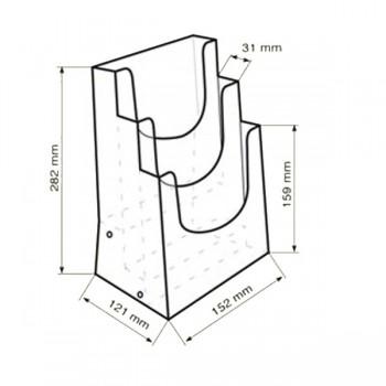 Forma e dimensioni del multiscomparto in A5