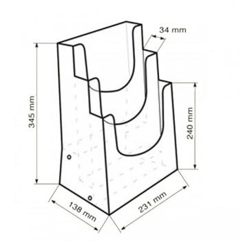Forma e dimensioni del multiscomparto in A4