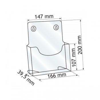 Forma e dimensioni del monoscomparto in A5