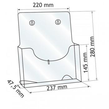 Forma e dimensioni del monoscomparto in A4