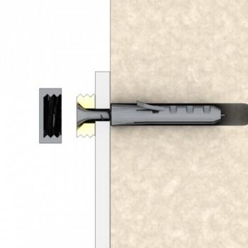 In sezione il montaggio a muro dei coprivite