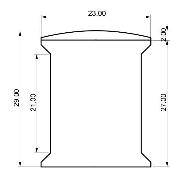 Forma e dimensioni del Wall Mounted Deluxe - Misura grande