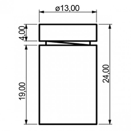 Disegno tecnico, alluminio, misura media
