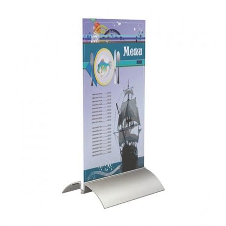 Espositore da banco base in alluminio in due formati