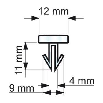 Forme e dimensioni delle clips a freccia (RIVTS124270)